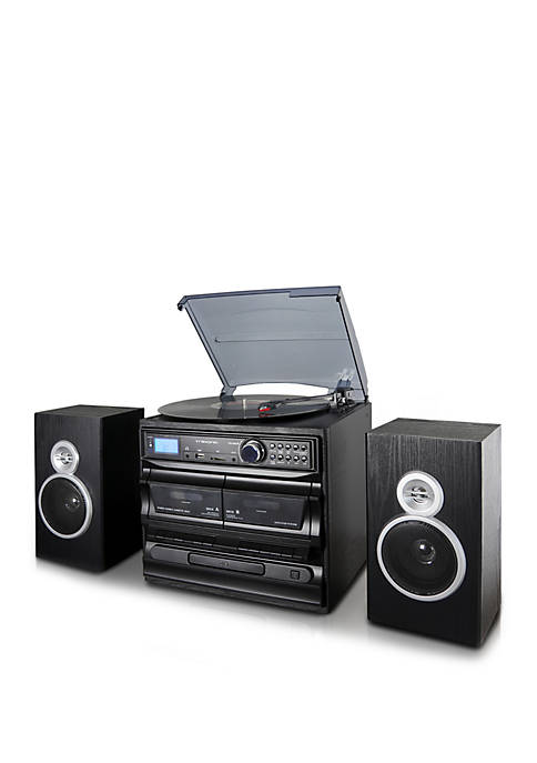Trexonic 3 Speed Turntable with CD Player, Dual