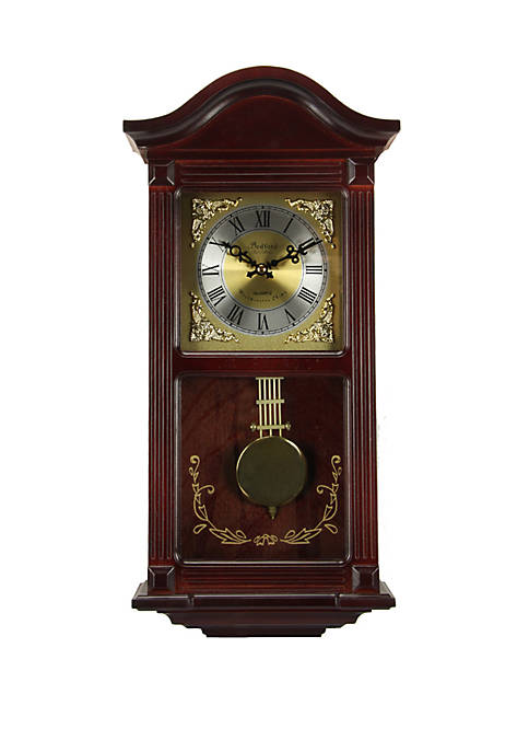 Bedford Clock Collection 22 Inch Mahogany Cherry Wood