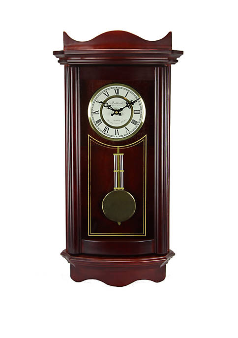 Bedford Clock Collection 25 Inch Weathered Cherry Wood