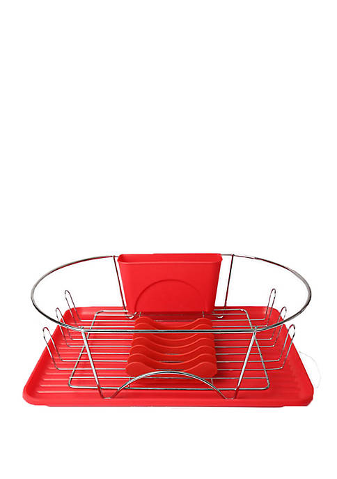 Megachef Dish Rack with Utensil Holder
