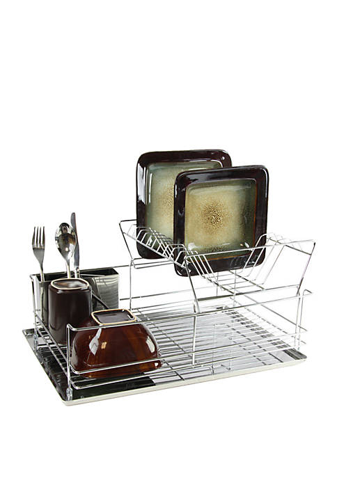 Megachef Stainless Iron Shelf Dish Rack