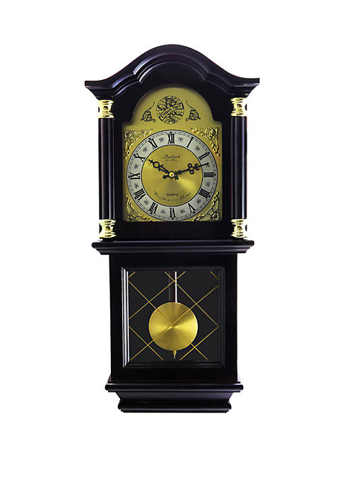 Bedford Clock Collection 26 Inch Antique Mahogany Cherry