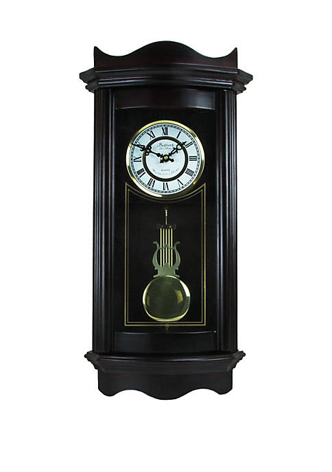 Bedford Clock Collection 25 Inch Weathered Chocolate Cherry