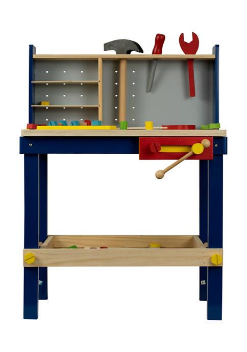 Homeware 50 Piece Wood Tool Bench Playset