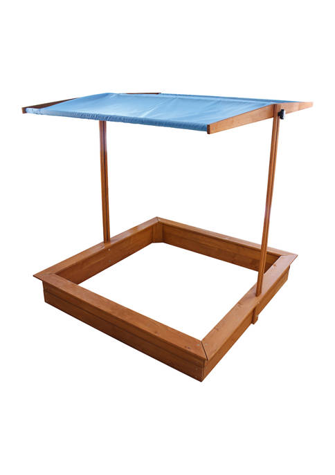 Red Hemlock Sand Box with Canopy