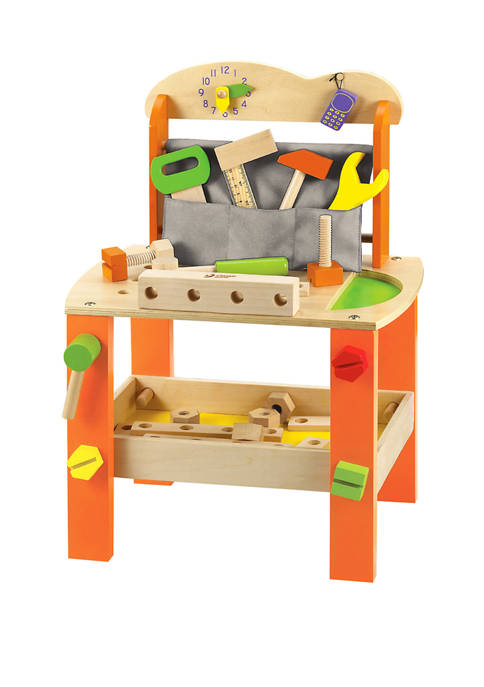 Classic World Toys Wooden Play Work Bench