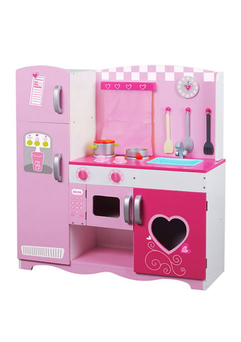Classic Toy Wood Kitchen Set with Accessories