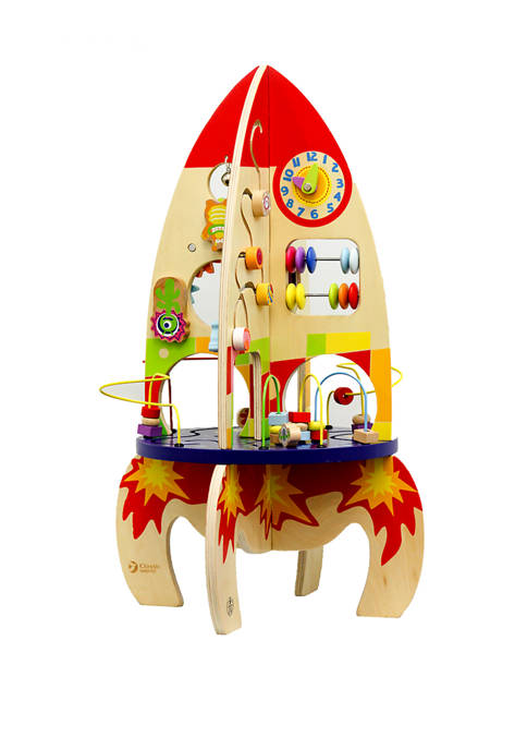 Classic World Toys Wooden Activity Play Rocket