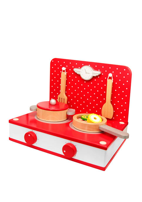 Classic World Toys Wooden Play Retro Tabletop Kitchen