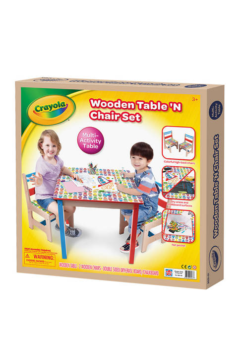 Grow'n Up Crayola Wooden Childrens Table with 2