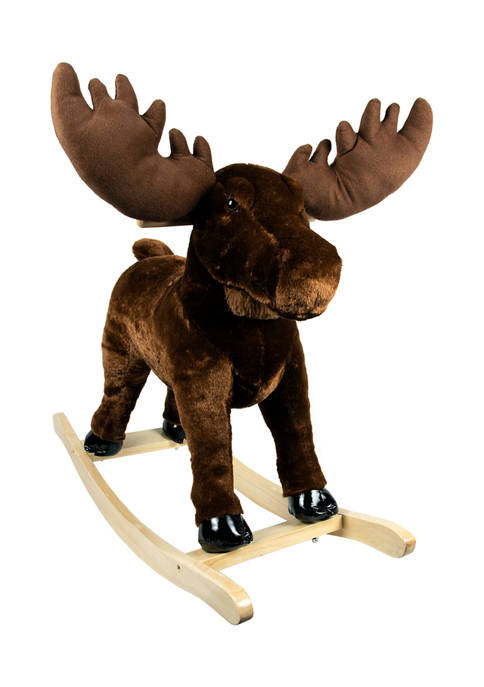 Pony Land Plush Rocking Ride On Moose