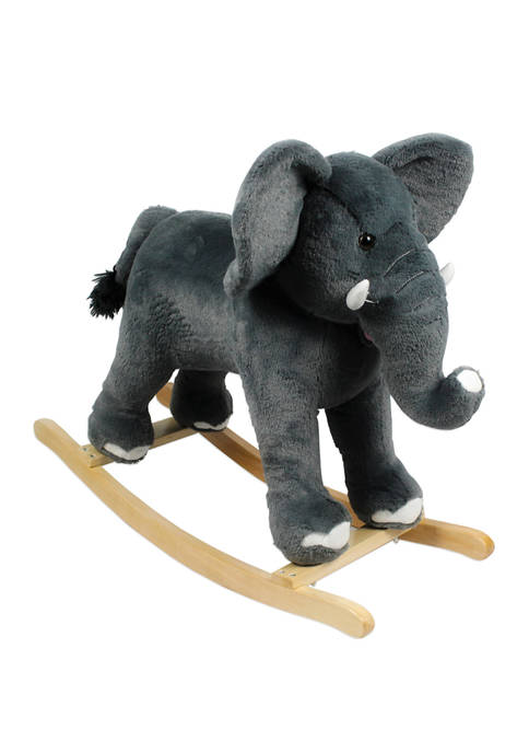 Plush Rocking Elephant Ride On