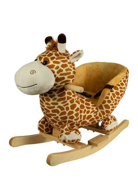 Plush Giraffe Rocking Chair