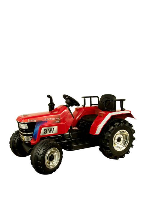 Blazin' Wheels 12V Battery Operated Big Wheeled Tractor