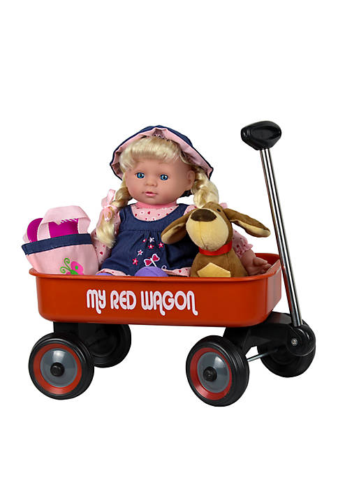 Kid Concepts Blonde Baby Doll with Wagon and