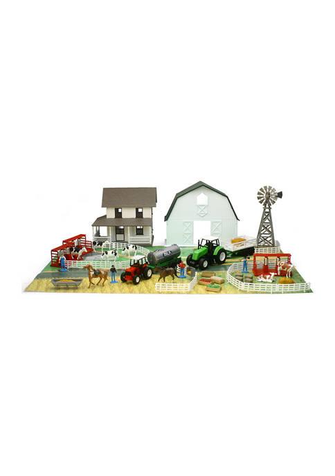 Country Life Farm Playset with Barn & Farm House