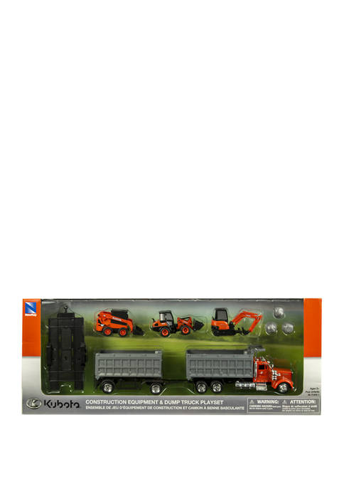 Kubota Construction Vehicle with 1:43 Kenwood Dump Truck Set