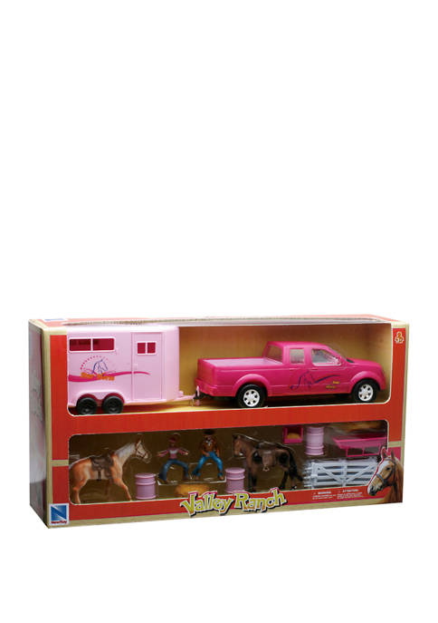 New Ray Free Wheeling Pink Pick Up Truck