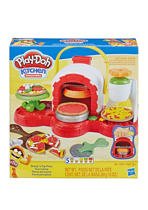 Stamp n Top Pizza Oven Toy with 5 Non-Toxic Play-Doh Colors