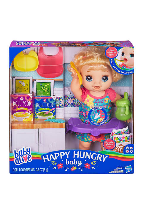 Baby Alive Happy Hungry Baby Blonde Curly Hair