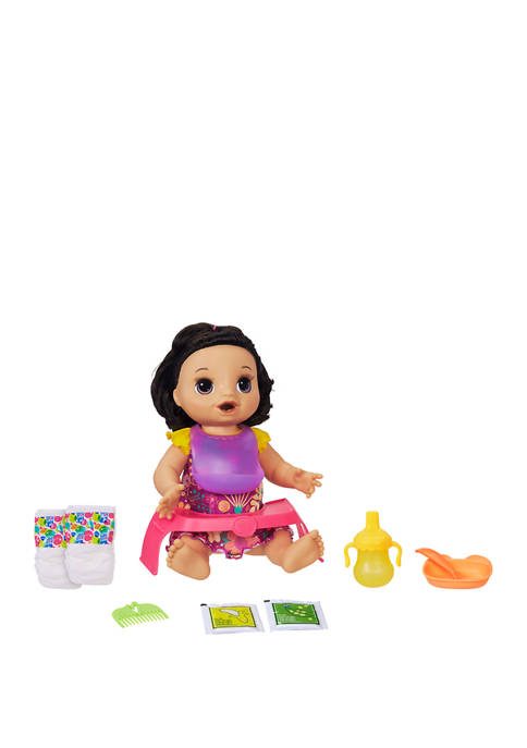 Baby Alive Happy Hungry Baby Black Straight Hair