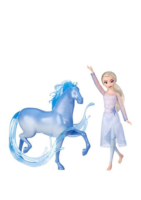 Disney Frozen 2 Elsa Fashion Doll and Nokk Figure