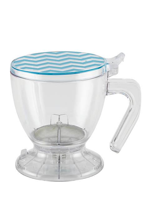 Coffee and Tea BPA Free Plastic Smart Brewer, 19.5 Ounce, Blue Chevron