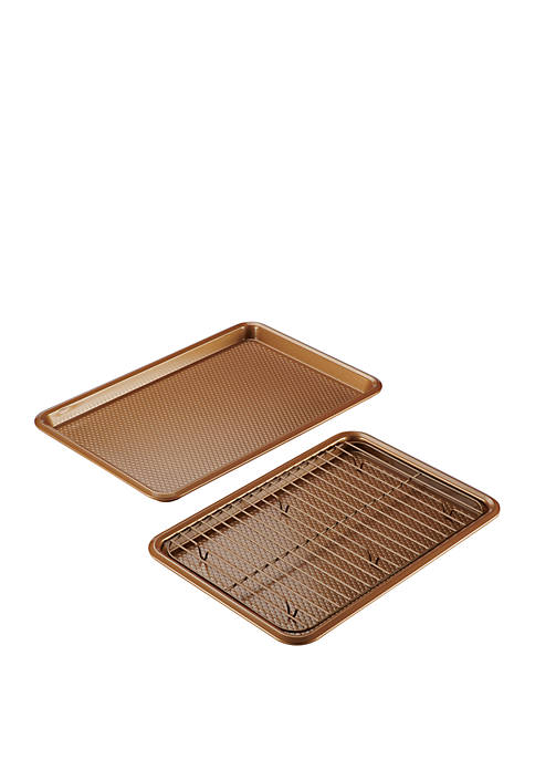 Ayesha Curry Bakeware Cookie Pan 3-Piece Set, Copper