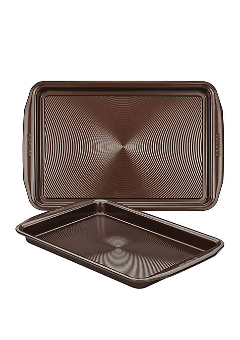 Nonstick Bakeware Cookie Pan Set, Chocolate Brown