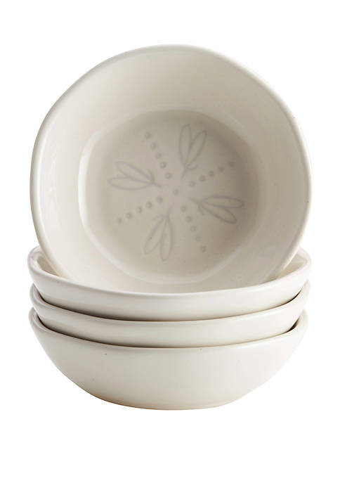 Collection Ceramic Dipping Bowl Set, French Vanilla