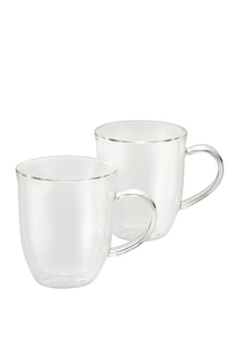 12 Ounce Coffee Insulated Borosilicate Glass Latte Cup Set