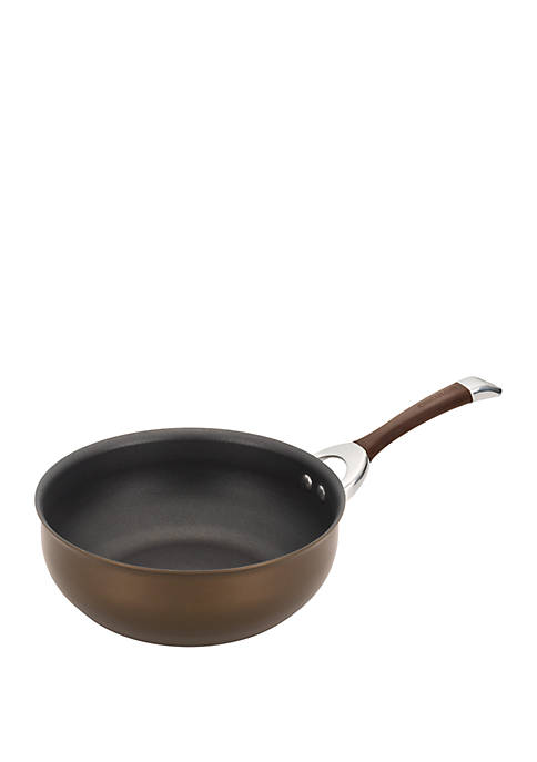 Symmetry Hard-Anodized Nonstick Chef Pan, 4.5 Quart, Chocolate