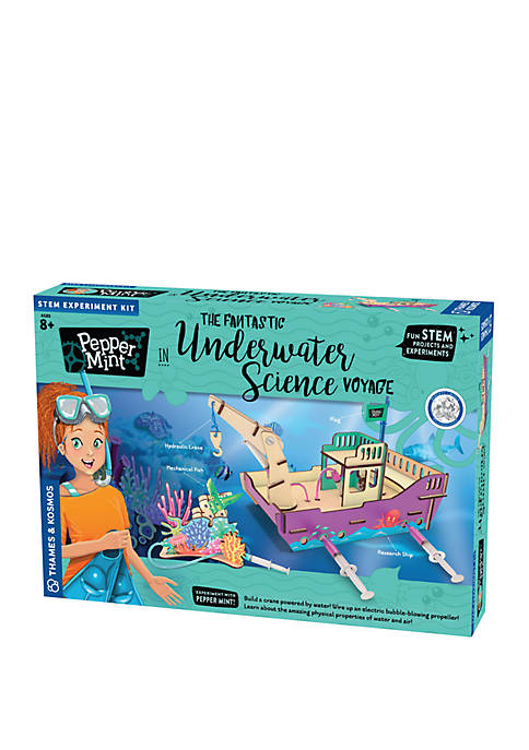 Pepper Mint in the Fantastic Underwater Science Voyage Experiment Kit