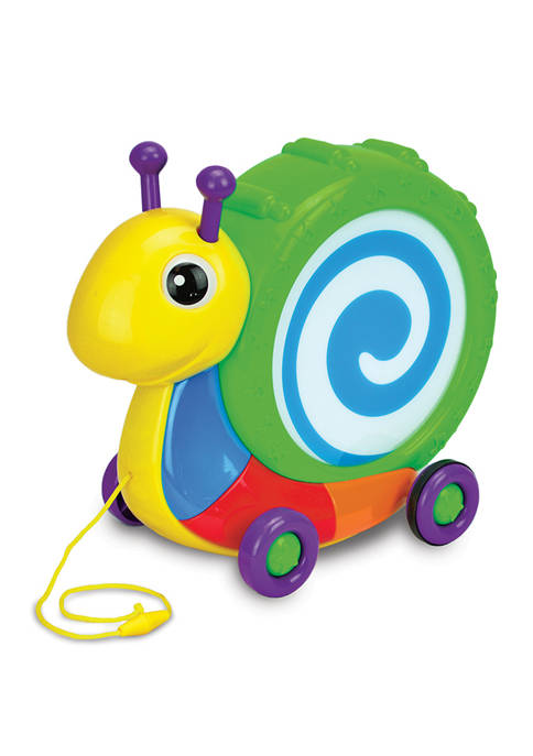 Pull Along Snail Drum Instrument Toy