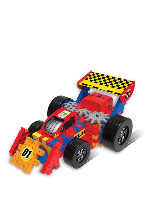 Techno Gears - Rockin Race Car - STEM 60+Piece Gear Construction Set
