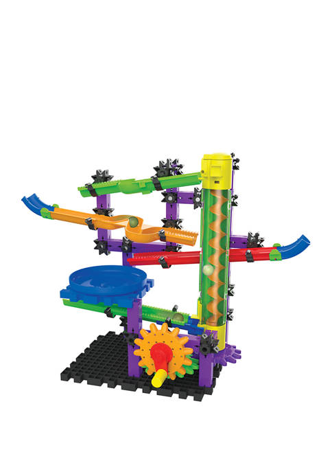 Techno Gears Marble Mania STEM Construction Set Zoomerang Marble Run (80+ pieces) Award Winning Learning Toys and Gifts