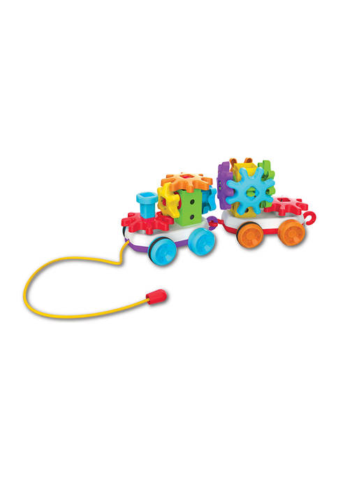 Techno Kids – Stack & Spin Pull Along Train – STEM Toddler Toys & Gifts for Boys & Girls Ages 2+ Years – Mind Building Preschool Learning Toy