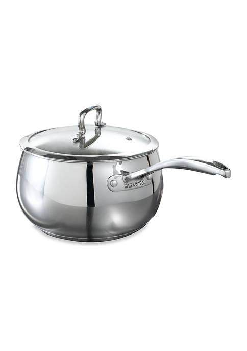Biltmore® 4 Quart Stainless Steel Belly Shaped Saucepan