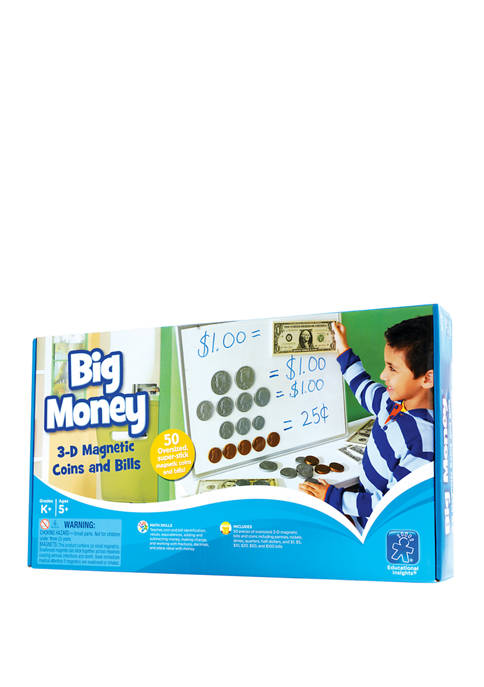 Educational Insights Big Money 3D Magnetic Coins and