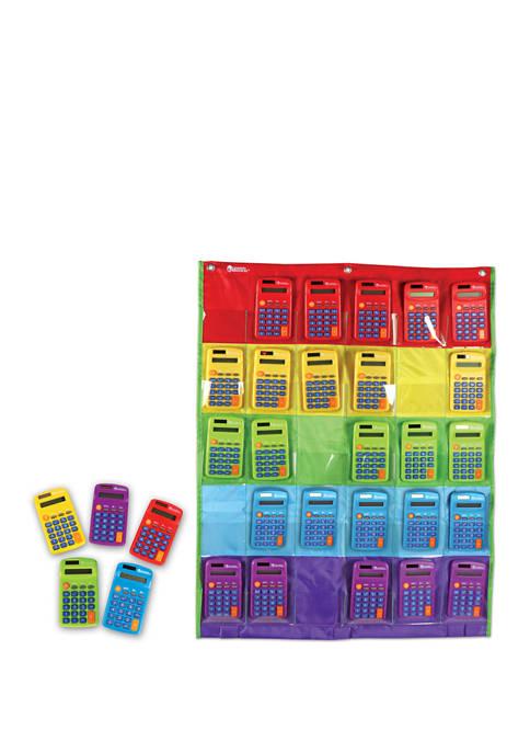 Rainbow Calculators and Storage Chart Set