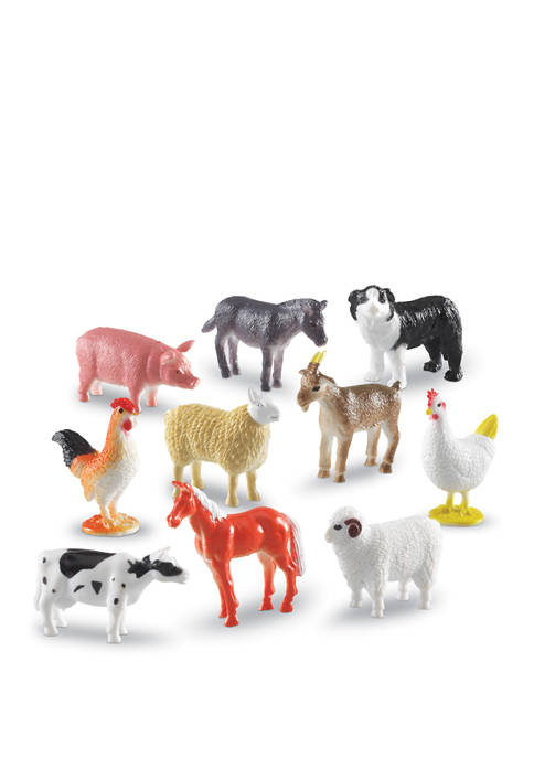 Farm Animal Counters, 60 Piece Set