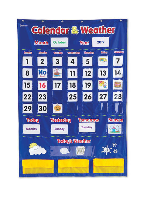 Learning Resources Calendar and Weather Pocket Chart
