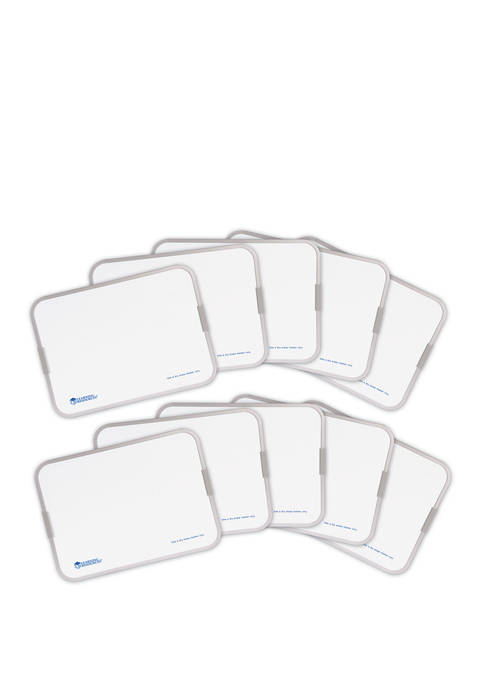 Magnetic Double Sided Dry Erase Boards, Set of 10