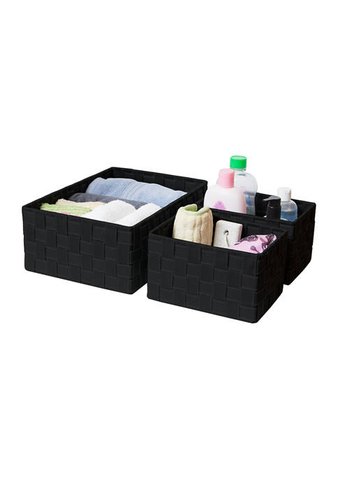 3 Strap Storage Baskets
