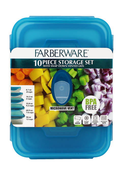 Set of 5 Rectangle Food Containers