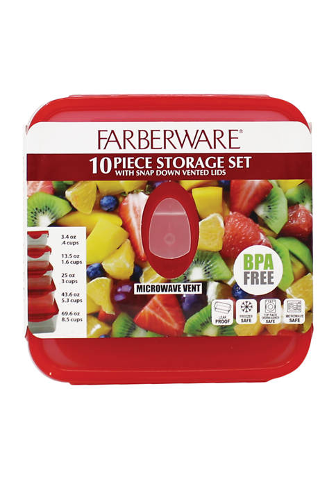 Farberware Set of 5 Square Food Containers