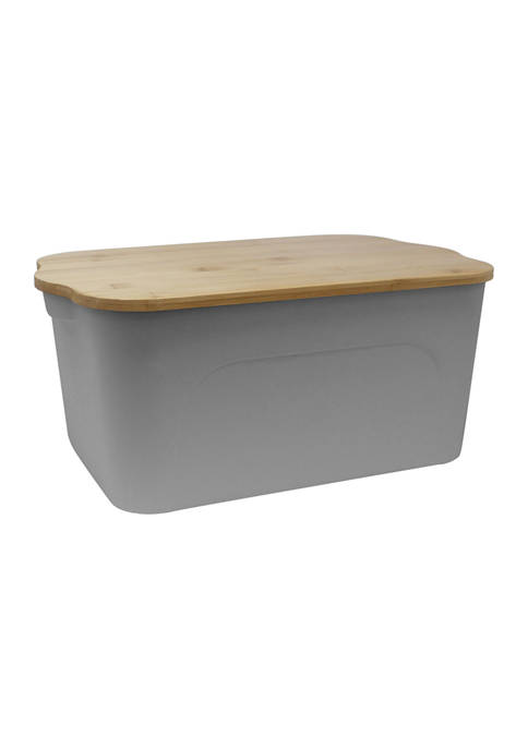 Heritage Plastic Bin with Bamboo Lid