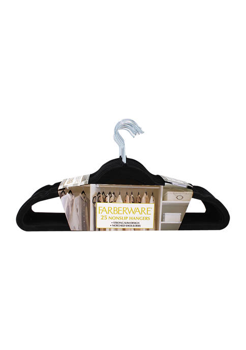 Set of 25 Flocked Hangers