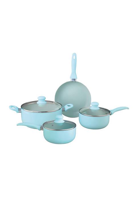 7-Piece Aluminum Non-Stick Cookware Set (Blue)