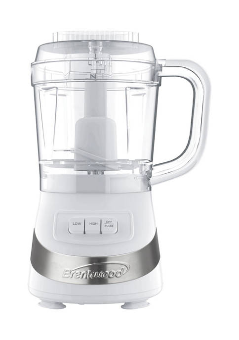 Brentwood Appliances 3-Cup Food Processor (White)